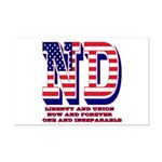 North Dakota ND Liberty And Unio Mini Poster Print