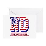 North Dakota ND Liberty And Union No Greeting Card