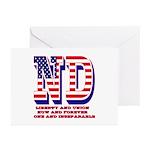 North Dakota ND Liberty Greeting Cards (Pk of 20)