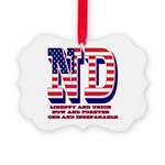 North Dakota ND Liberty And Union Picture Ornament