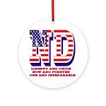North Dakota ND Liberty And Union Ornament (Round)