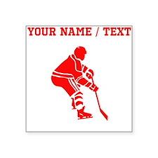 Red Hockey Player (Custom) Sticker