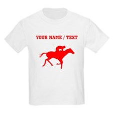 Red Horse Racing Silhouette (Custom) T-Shirt