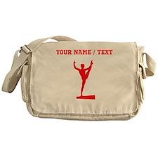 Red Balance Beam Silhouette (Custom) Messenger Bag