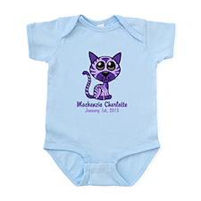 Purple Kitty Infant Bodysuit