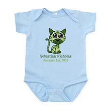 Green Kitty Infant Bodysuit