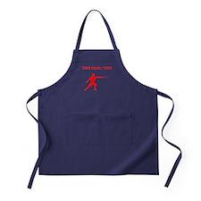 Red Fencer Silhouette (Custom) Apron (dark)