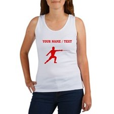 Red Fencer Silhouette (Custom) Tank Top