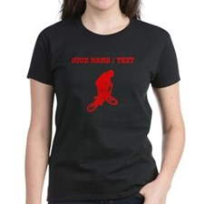 Red BMX Biker Silhouette (Custom) T-Shirt