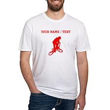 Red BMX Biker Silhouette (Custom) T-Shirt