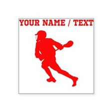 Red Lacrosse Player (Custom) Sticker