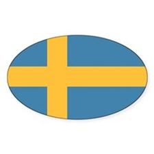 Sweden Flag Oval