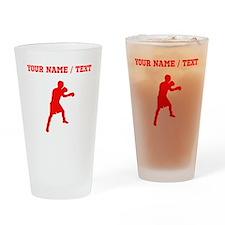 Red Boxer (Custom) Drinking Glass