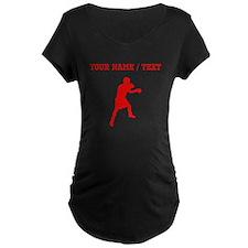 Red Boxer (Custom) Maternity T-Shirt