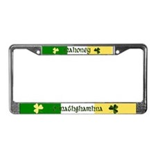 Mahoney (In Gaelic & English) License Plate Frame