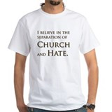 Church & Hate White T-shirt