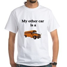 School Bus Driver White T-shirt