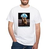 Meerkat Mens White T-shirts