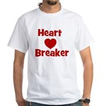 Heart Breaker with heart White T-shirt