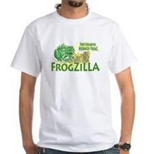 Frogzilla Fire-Croaking Frog White T-shirt 3