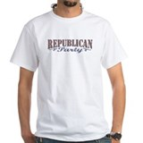 Retro Republican Elephant White T-shirt 2