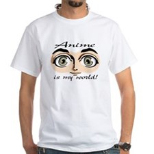 Anime is My World Boys Eyes White T-shirt