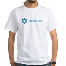 I Stand with Israel White T-shirt 2