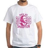 Al Sharpton For President 2008 White T-shirt