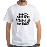 Boycott Biggest Oil TEXT White T-shirt