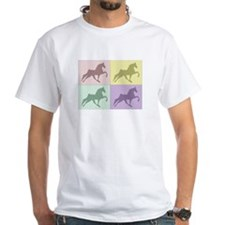 Horse Quad White T-shirt