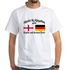 English & German Parts White T-shirt