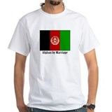 Afghan by Marriage White T-shirt