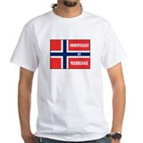 Norwegian by Marriage White T-shirt