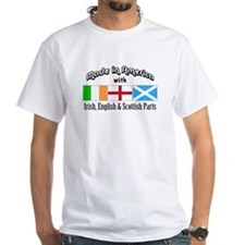 Irish-English-Scottish White T-shirt