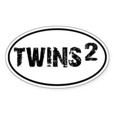 TWINS Squared Oval Decal