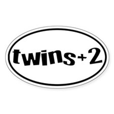twins+2 Oval Decal