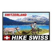 Hike Swiss Rectangle Decal