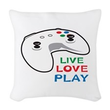 LIVE LOVE PLAY Woven Throw Pillow