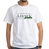 Proud Army Grandpa (green) White T-shirt