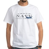 Proud Navy Parent (blue) White T-shirt