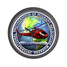 Intl Brotherhood Helicopter Wall Clock