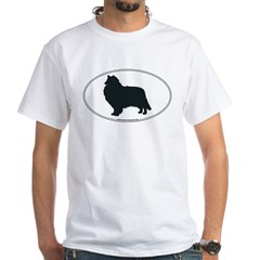 Collie Silhouette White T-shirt