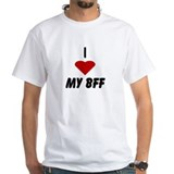 I Heart My BFF (Best Friend F White T-shirt