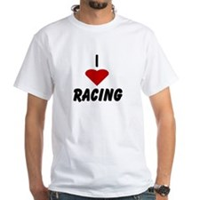 I Heart Racing White T-shirt