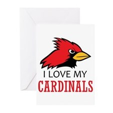 LOVE MY CARDINALS Greeting Cards