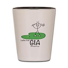 Golf induced anger Shot Glass