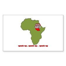 Speak Up to Save Darfur Rectangle Decal
