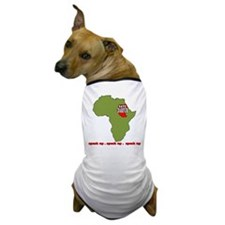 Speak Up to Save Darfur Dog T-Shirt