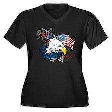 Patriotic Dirtbiker USA Plus Size T-Shirt