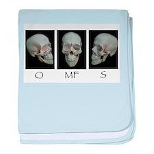 OMFS surgery skull baby blanket